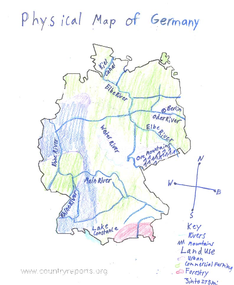 Ljhsobonk Physical Map Of Germany - Germany map drawing